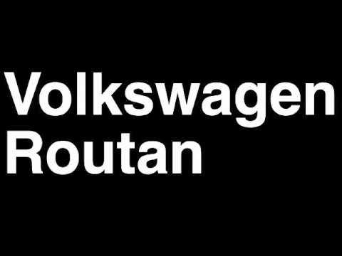 How to Pronounce Volkswagen VW Routan 2013 S SE SEL Premium Minivan Review Fix Crash Test Drive MPG