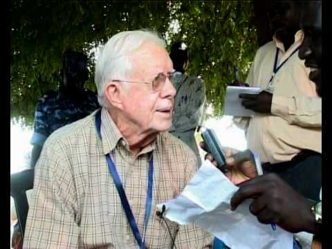 MaximsNewsNetwork: SUDAN - JIMMY CARTER in JUBA - VOTING EXTENDED (UNMIS)