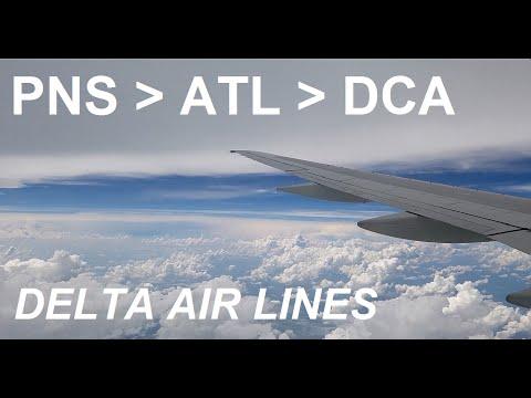 TRIP REPORT: PNS - ATL - DCA on Delta Air Lines (HD)