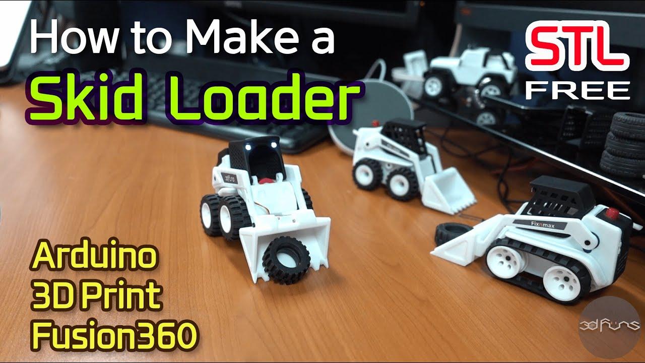 how to make a mini rc_ 3d printed skid loader mini rc 2