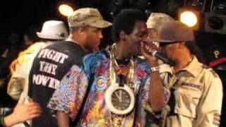 Flavor Flav on the Drums and Ice-T Rhyming Live