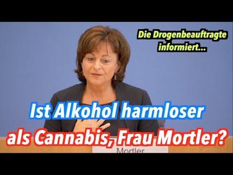 Ist Alkohol harmloser als Marijuana, Marlene Mortler (CSU)?