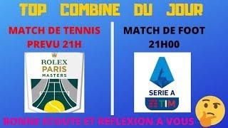PARIS SPORTIFS : PRONOS COMBINé TENNIS+FOOT TOP CONFIANCE (MONFILS ET MILAN AC) BASE STATISTIQUE