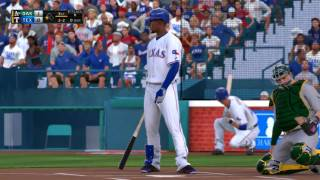 MLB The Show 16  Oakland Athletics vs Texas Rangers 7 26 2016