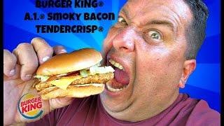 Burger King's A.1.® Smoky Bacon Tendercrisp Chicken Sandwich  REVIEW!