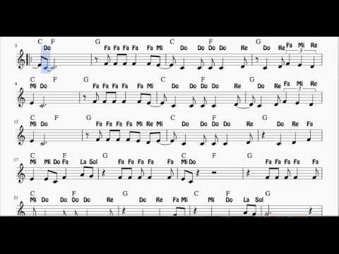 La Bamba Notes Sheet Music for Flute, Violin and Oboe - Spanish Notes