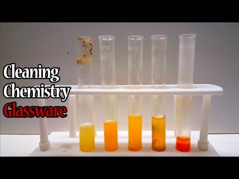 Cleaning Dirty Chemistry Glassware