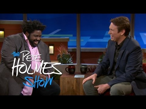 Ron Funches And Pete Share A Topless Hug