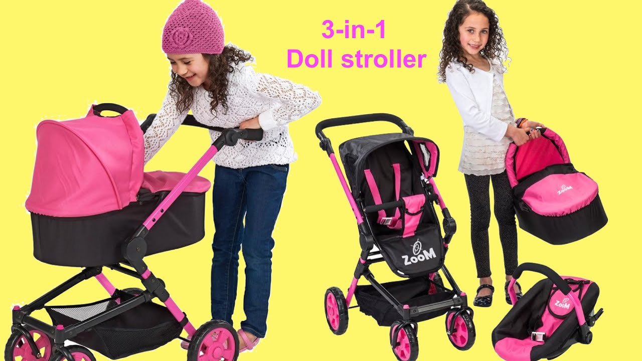 Baby Annabell Missy Kissy Dimples 3 In 1 Dolls Stroller
