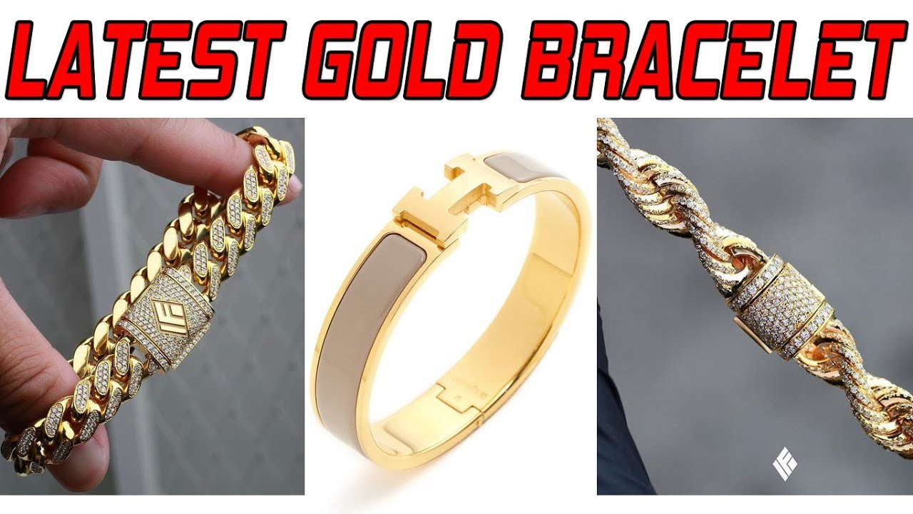 Latest Gold Bracelet Design for Men | Latest Gold jewellery design ...