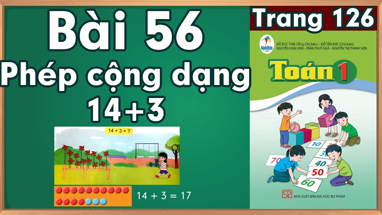 Học toán lớp 1  Phép cộng dạng 14+3  học toán  lớp 1 trực tuyến