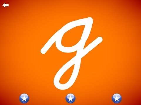 The Letter G Learn The Alphabet And Cursive Writing YouTube