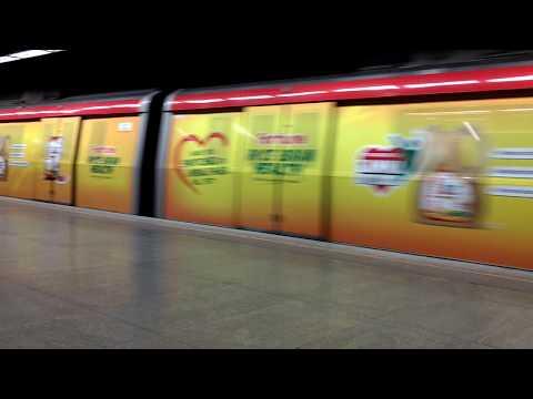 Fortune Rice Bran Oil Delhi Metro Train Wrap.