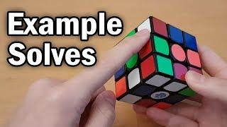 3x3 Example Walkthrough Solves CFOP White Cross