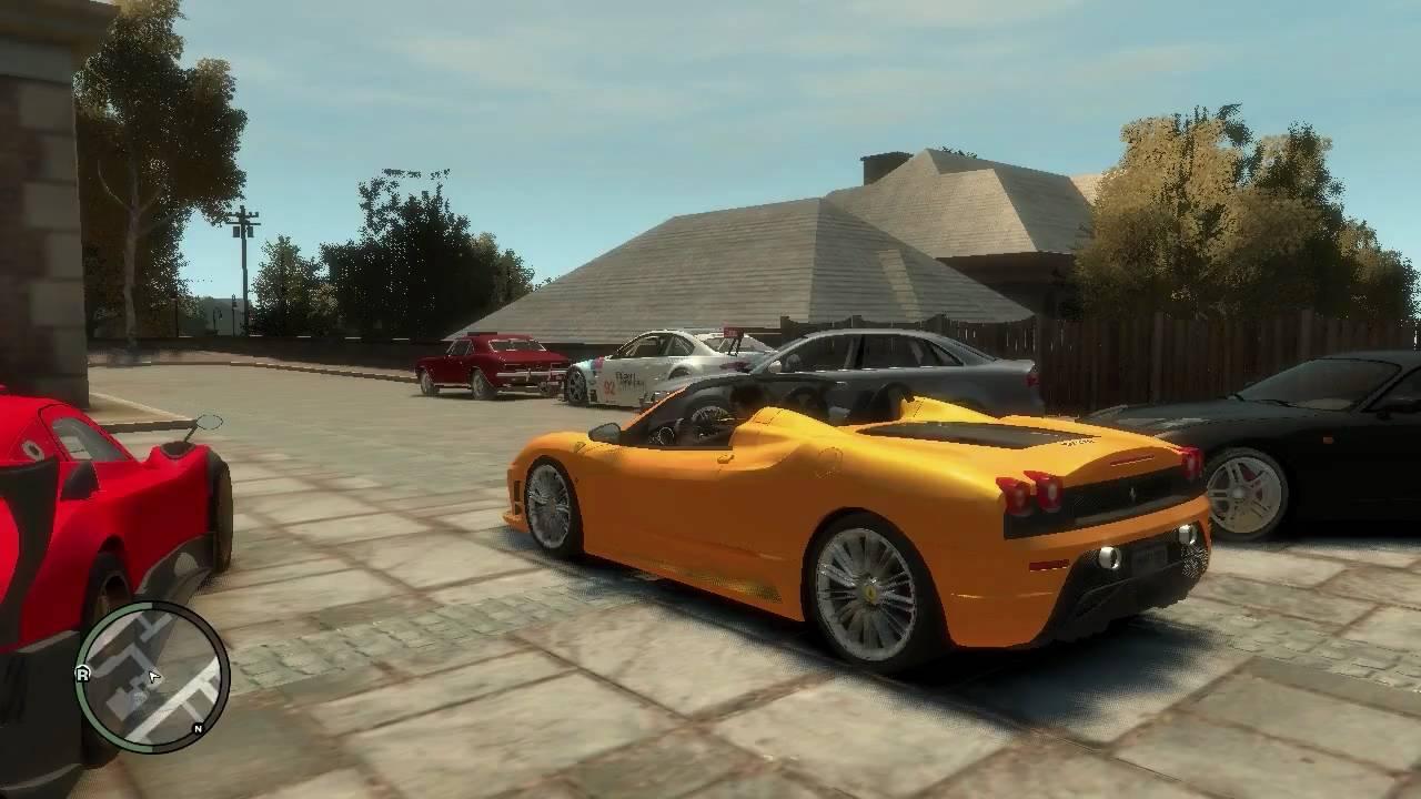 GTA 4 car mods v2.0 and driving the Pagani Zonda R - YouTube