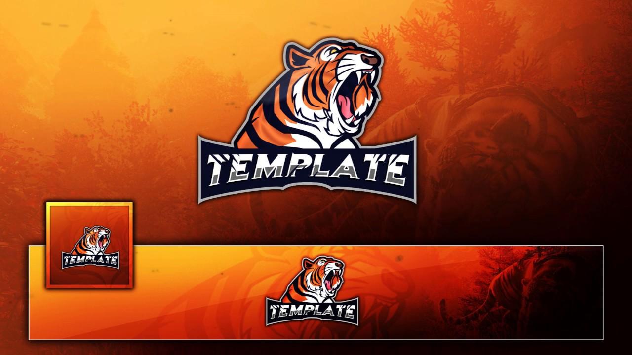free tigar mascot esport clan gaming logo banner avatar free