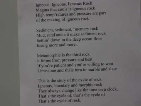 The Rock Cycle: Song Lyrics and Sound Clip