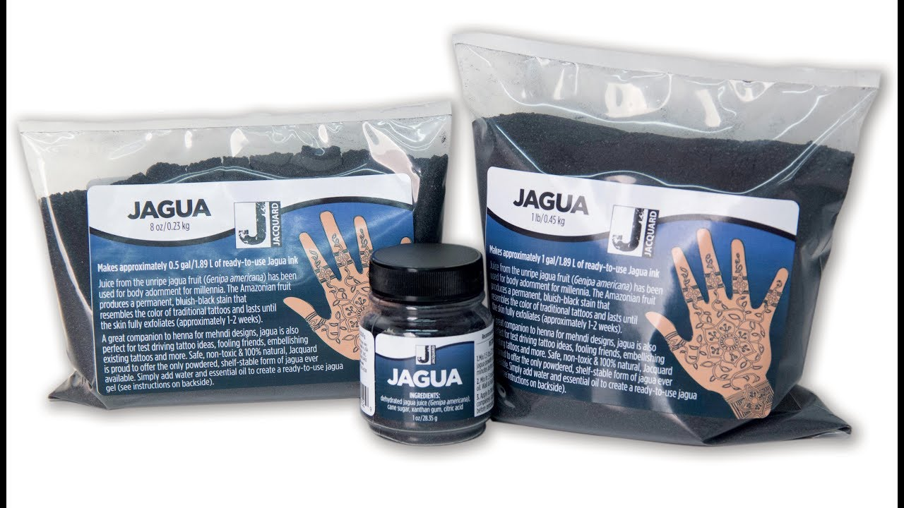 Jacquard Mehndi Henna Kit Ingredients : Jacquards dehydrated jagua powder: test and discussion youtube