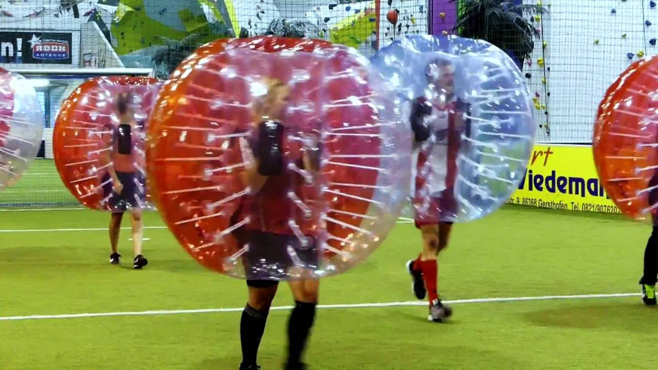 Bubble Soccer im BOULDER & SOCCERCENTER Gersthofen - YouTube