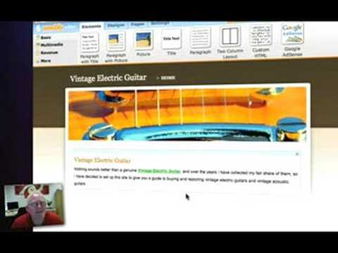Setting Up A Weebly Site - YouTube - set up web site