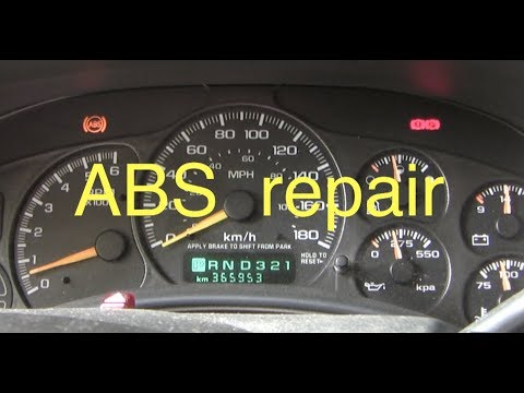 How to fix an ABS warning light in a Chev/GM