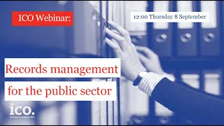 Records management for the public sector