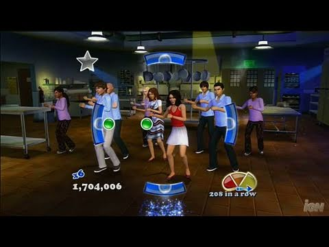 High School Musical 3: Senior Year Dance (Dance Pad Bundle) Xbox 360 Gameplay - Work This Out