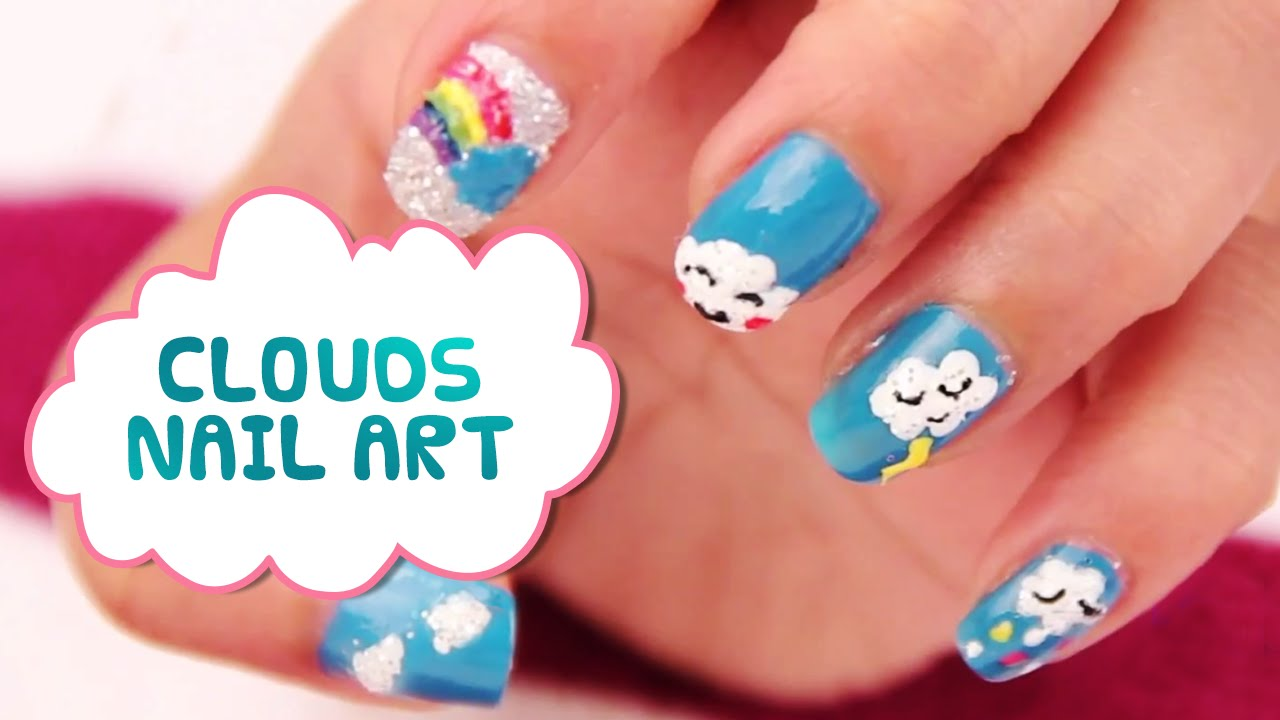 How To Do Rainbow Nails Nail Arts Tutorials Cute Cloud And