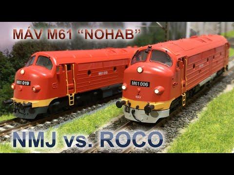 "Modellbemutató: MÁV M61 ""NOHAB"" NMJ Vs. Roco"
