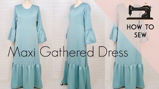 DIY Maxi Gathered Dress /  DIY Doll Dress / Sheer Dress
