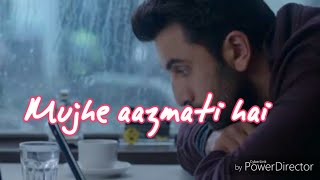 Ae dil hai mushkil Sad Version Whatsapp Status love song With Lyrics