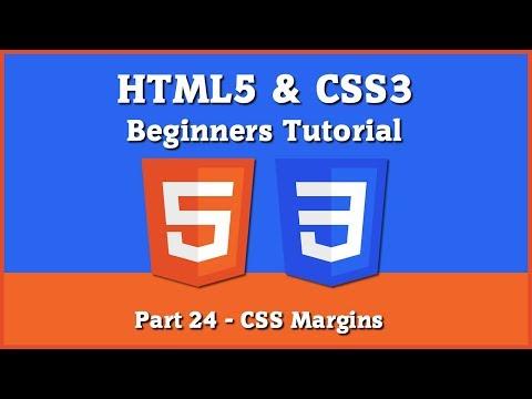 HTML5 & CSS3 - Beginners Tutorial - Part 24 - [ CSS Margins ] thumbnail