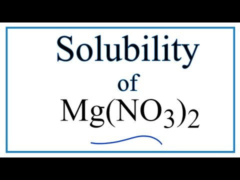 Is Mg(NO3)2 Soluble Or Insoluble In Water?