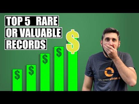 Top 5 Rarest/Most Valuable Vinyl Records