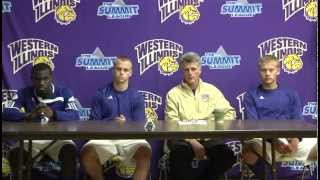 Western Illinois Press Conference: Drew Edmond, Charlie Bales, Dr. Eric Johnson, Nathan Bruinsma