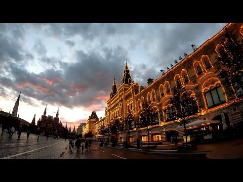 ⁴ᴷ⁵⁰ Walking Moscow: Moscow Center - From Chistye Prudy Metro St. To Red Square & Nikolskaya Street