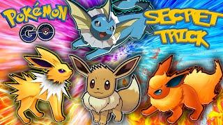 Pokemon GO - SECRET EEVEE EVOLUTION TRICK! (Eeveelution Name Trick)