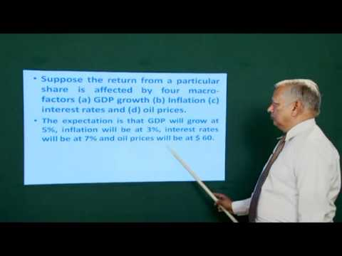Dr. JB Gupta Video Lecture On Arbitrage Pricing Theory
