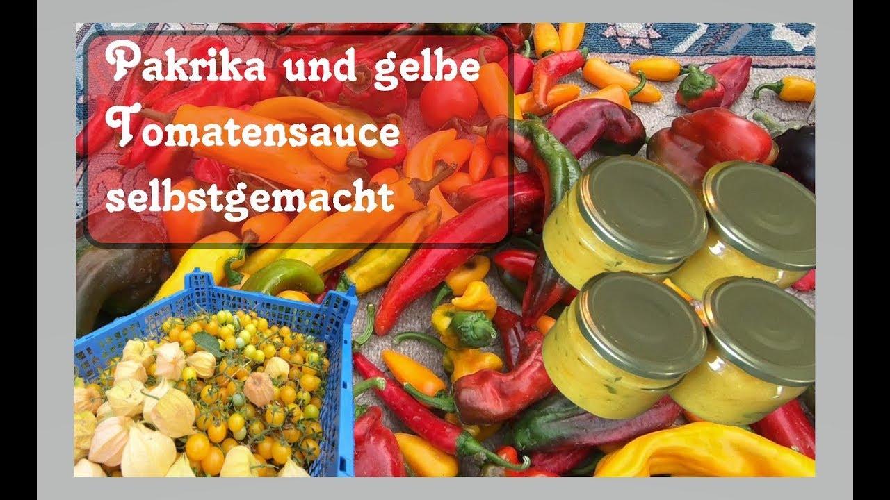 paprika tabasco und gelbe tomaten sauce selber machen youtube