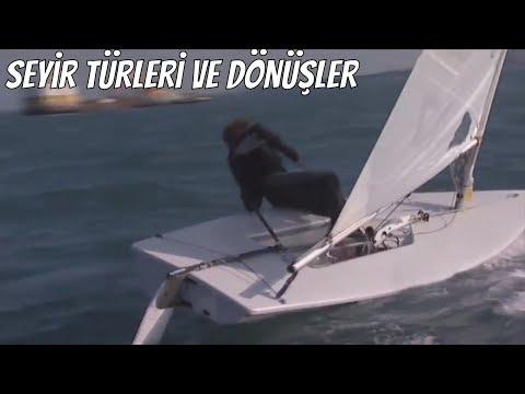 Yelkenli Teknede seyir türleri ve dönüşler ( Tramola ve Kavança )