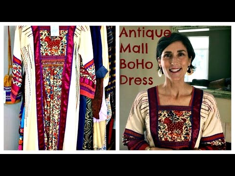 Antique Mall BoHo Dress ~ Finding Vintage Clothes at Antique Stores
