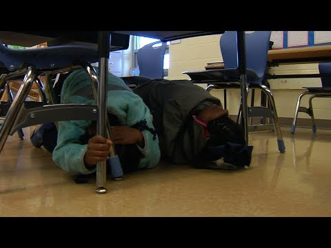Earthquake Drill - Harvie Elementary School