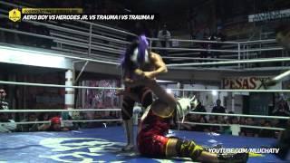 Aero Boy vs Herodes Jr. vs Trauma I vs Trauma II, en Guerrero Indy Wrestling