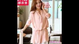 модная женская рубашка последней корейской стили