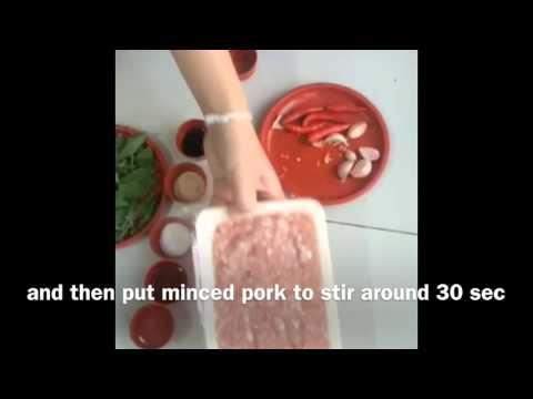 ผัดเพราหมูสับ (ภาษาอังกฤษ) Fried stir basil with minced pork