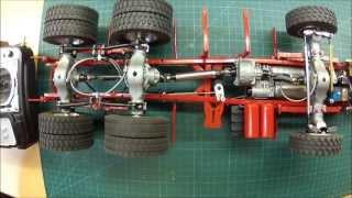 Funktionstest der Sperren, Getriebe und Lenkung am MAN 6x6 von ScaleArt