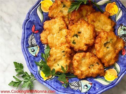 Nonna Eugenia's Cauliflower Patties –  Rossella's Cooking with Nonna