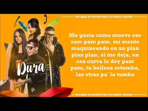 Dura Remix - Daddy Yankee, Bad Bunny, Natti Natasha, Becky G (Full Version - Letra/Lyrics)