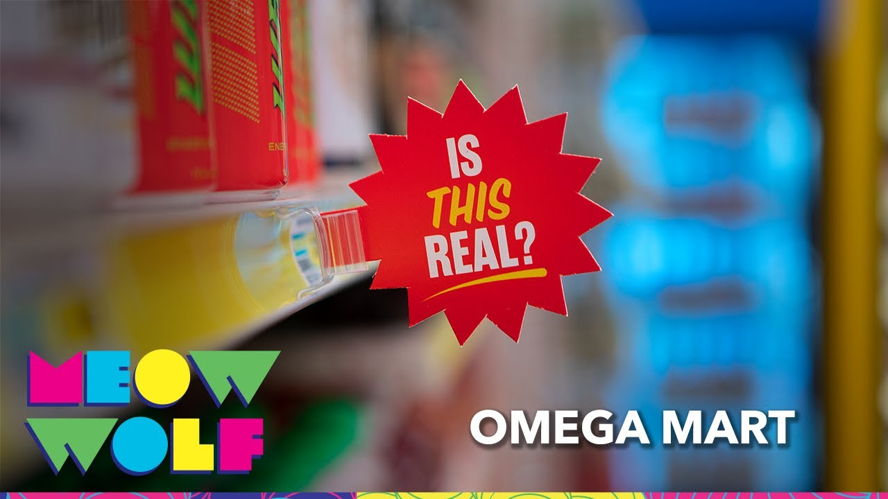 Omega Mart - Art behind the Mart I Meow Wolf