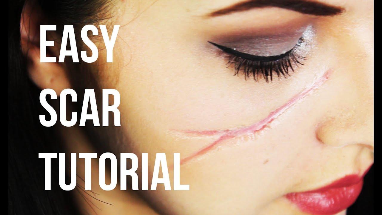 Easy Realistic Scar - SFX Makeup Tutorial